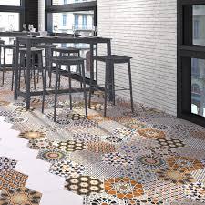 moroccan mix hexagon tiles porcelain superstore