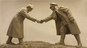 christmas truce football match sculpture revealed in liverpool