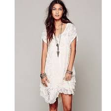 free people free people ivory prairie ruffle lace dress from top
