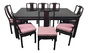 rosewood dining room furniture rosewood dining room table u0026 chairs set of 9 chairish