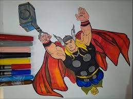 thor avengers coloring pages colouring book superheroes learn