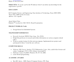 resume sles for freshers download free sle resume for computer science lecturer in engineering college