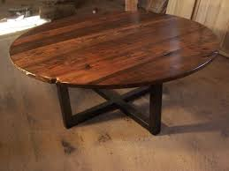 Coffee Table With Metal Base by Buy A Hand Crafted Large Round Coffee Table With Industrial Metal