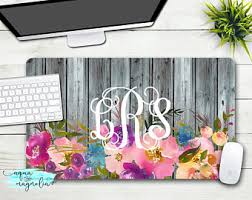 Floral Desk Accessories Office Accessories Etsy
