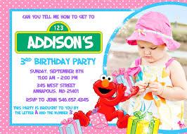elmo birthday party pink invitation digital file