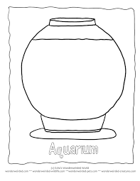 outline aquarium coloring pages template 1 fish bowl here a setup