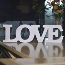 wooden love letters wedding ebay