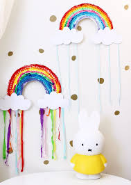 adorable rainbow paper plate craft four cheeky monkeys