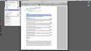 Job Resume With Experience by How To Resume With Iwork Pages Youtube
