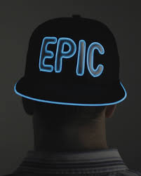 light up hat epic from electric styles raves