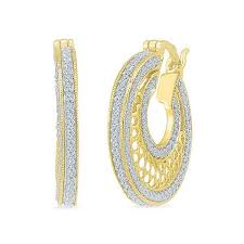 hoops earrings india buy diamond earrings online in india gold and silver earring