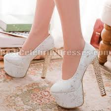 wedding shoes chunky heel glittering white wedding shoes discount platform pumps chunky