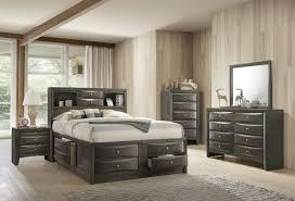 Emily Bedroom Furniture Crown B4275 Emily Storage Grey Bedroom Set