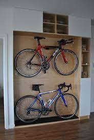 excellent wooden platform design for home bikes storage ideas