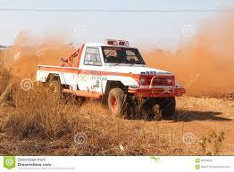toyota trucks sa drifting white toyota landcruiser truck kicking up dust on turn