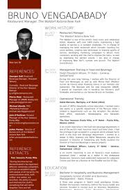 Restaurant Resume Sample by Restaurant Resume Samples Visualcv Resume Samples Database