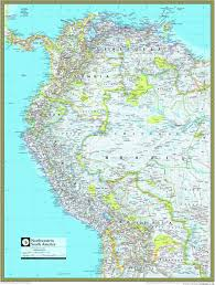 south america map atlas northwestern south america atlas wall map maps