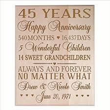 45 year anniversary gift personalized 45th anniversary gifts for him