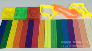 play and learn colours with modelling clay set make fun clay