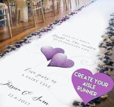 Aisle Runner Wedding Create A Unique Wedding Aisle Runner From Your Own Design Idea