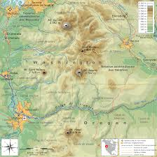 Oregon Topographic Map by File South Washington Cascade Range Topographic Map Fr Svg