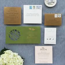 wedding invitations jacksonville fl modern lasercut olive and gold foil wedding invitations