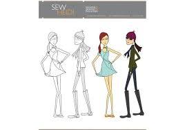 fashion sketch free vector art 6684 free downloads