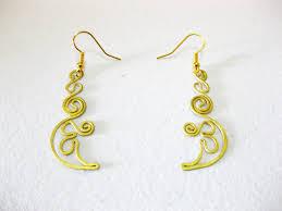 thailand earrings brass dangle earrings crescent fashion designs handmade jewelry