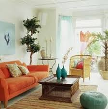 Living Room With Orange Sofa House Tour A Colorful Calm And California