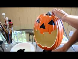 styrofoam pumpkins how to carve a foam pumpkin
