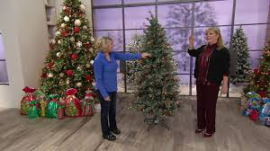bethlehem lights prelit blue spruce christmas tree on qvc youtube