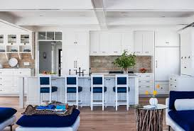 Beach Cottage Kitchen by Longport Beach Cottage With Coastal Interiors Bell Custom Homes