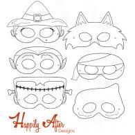 halloween creatures printable masks