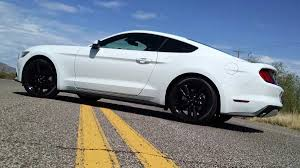 White Mustang Black Wheels Road Test 2015 Ford Mustang Ecoboost Themustangnewsthemustangnews