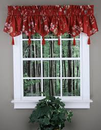 Burgundy Curtains With Valance Ascot Curtain Valance In Burgundy Kitchen Valances