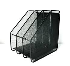 articles with mesh wall mounted magazine rack with 3 pockets label