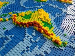 World Map South America by Dirks Lego World Map 18 Closeup South America If You Want U2026 Flickr