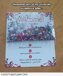 Awesome College Acceptance Letter Awesome College Acceptance Letter With Confetti Http