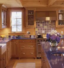 purple kitchen backsplash blue kitchen counters