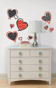 49 best peel stick holiday decorations images on pinterest mod hearts peel and stick wall decals