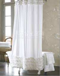 Bed Bath And Beyond Ruffle Shower Curtain - modern unique ruffle curtains bed bath and beyond ruffle shower