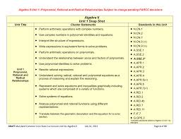 algebra ii unit 1 polynomial rational and radical relationships