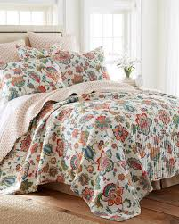 risa floral luxury quilt print quilts bedding bed bath stein mart