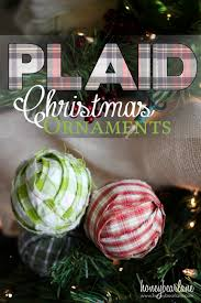 plaid christmas ornaments plaid christmas christmas ornament