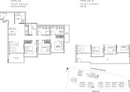 sq ft to sq m the glades condo floor plan 3br suite c6 93 sqm 1001 sqft