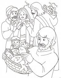 Best 25 Jesus Feeds 5000 Ideas On Pinterest Regarding Two Fish Coloring Pages Bread