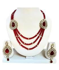 red crystal necklace set images Apsara shine red crystal necklace set buy apsara shine red jpg