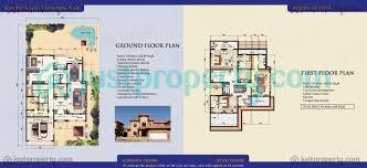 semi detached villas floor plans justproperty com