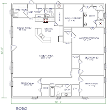 4 Bedroom Floor Plans For A House 30 Barndominium Floor Plans For Different Purpose Extra Bedroom