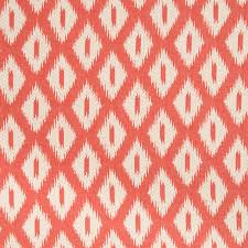 Upholstery Weight Fabric A Woven Ikat Upholstery Fabric In Soft Coral And White This Mid